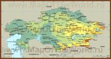 Физическая карта казахстана