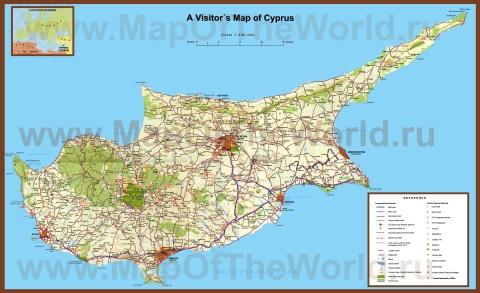 Карта кипра с