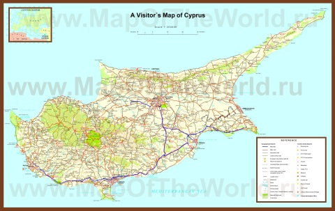 Карта кипра с курортами
