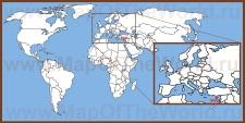 Кипр на карте мира и Европы