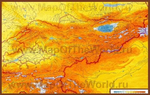 Физическая карта киргизии