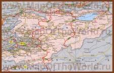 Карта дорог Киргизии
