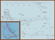 Карта Кирибати на русском языке