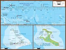 Подробная карта Кирибати
