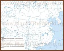 Контурная карта Китая