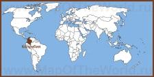 Колумбия на карте мира