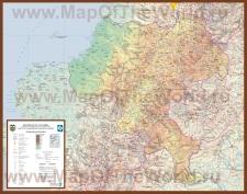 Подробная карта Колумбии