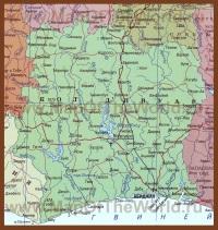 Карта Кот-д'Ивуара на русском языке