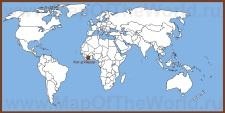 Кот-д'Ивуар на карте мира