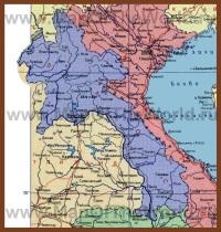 Карта Лаоса на русском языке
