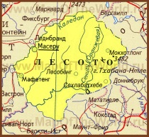 Карта Лесото на русском языке