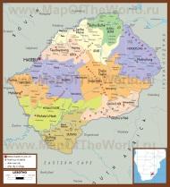 Подробная карта Лесото