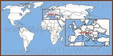 Лихтенштейн на карте мира и Европы