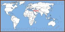 Ливан на карте мира