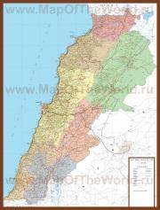 Подробная карта Ливана