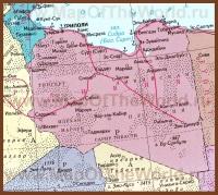 Карта Ливии на русском языке