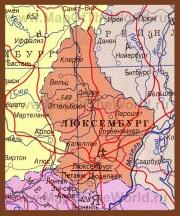 Карта Люксембурга на русском языке