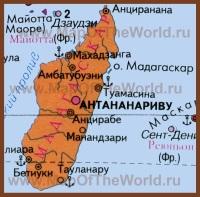 Карта Мадагаскара на русском языке