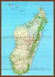 Подробная карта острова Мадагаскар