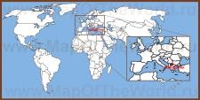 Македония на карте мира и Европы