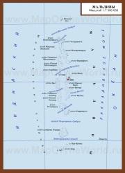 Карта Мальдивских островов на русском языке