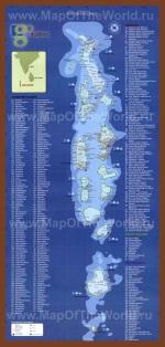 Карта отелей Мальдив