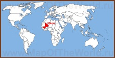 Мали на карте мира