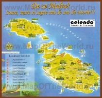 Карта Мальты с отелями