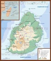 Подробная карта острова Маврикий