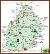 Туристическая карта Маврикия с отелями