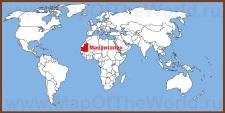 Мавритания на карте мира