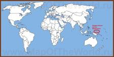 Микронезия на карте мира