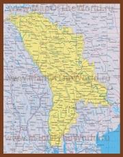 Карта Молдавии на русском языке
