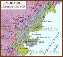 Карта Монако на русском языке