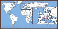 Монако на карте мира и Европы