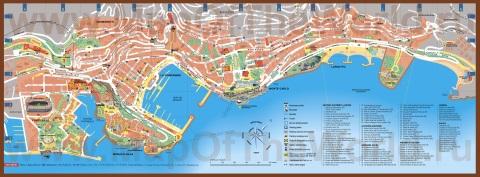 Подробная карта монако с