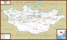 Автомобильная карта дорог Монголии