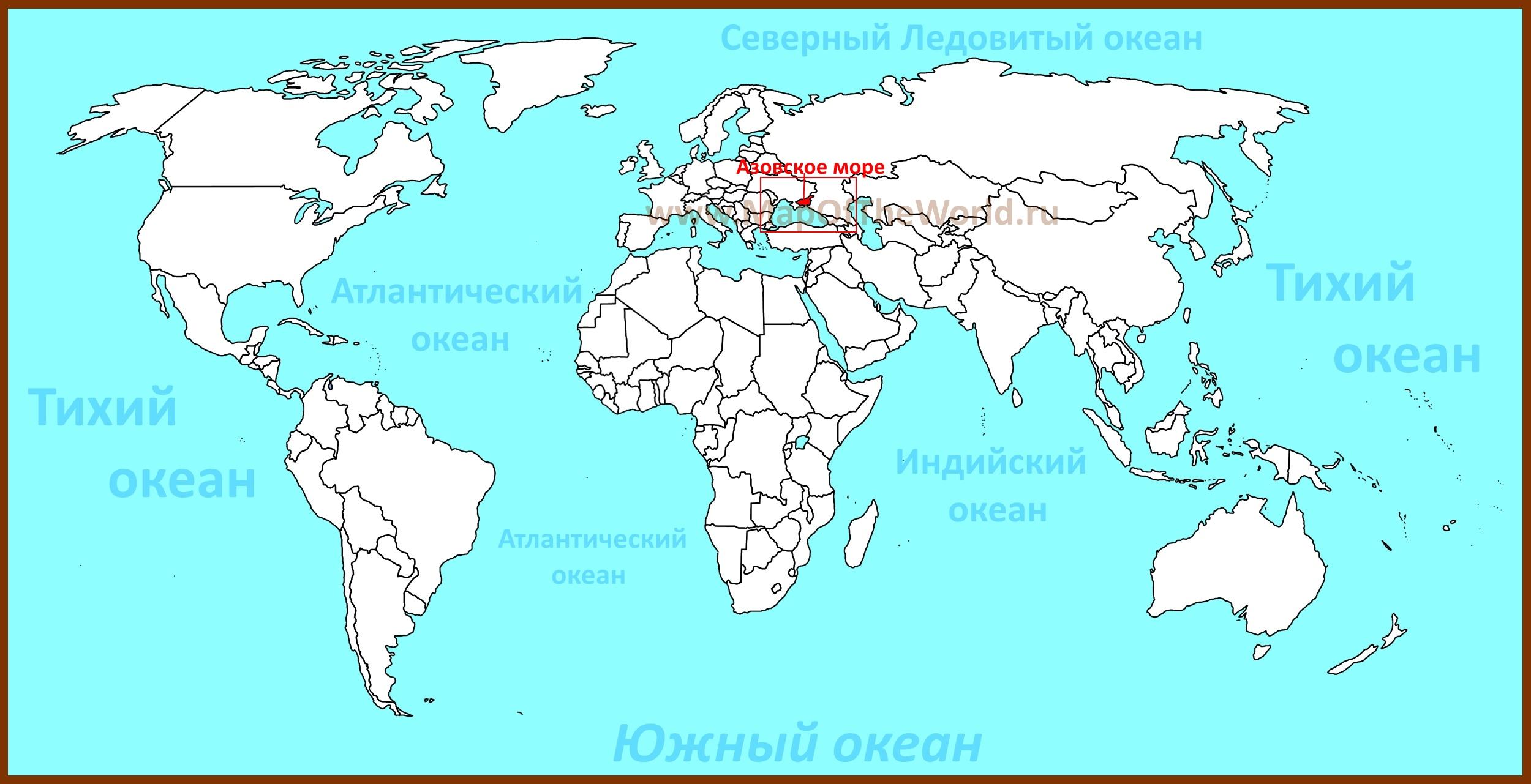 азовское море на карте россии фото