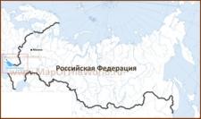 Азовское море на карте России