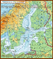 Карта глубин Балтийского моря