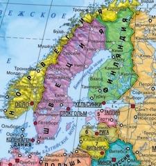 Карта стран Балтийского моря