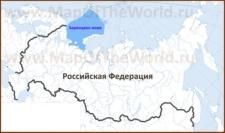Баренцево море на карте России