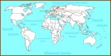 Белое море на карте мира