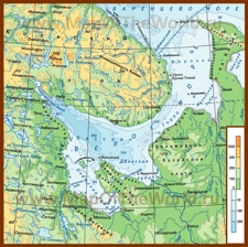 Физическая карта Белого моря
