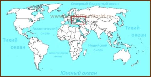 Черное море на карте мира