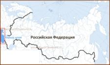 Черное море на карте России