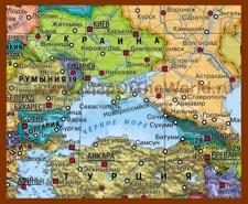 Карта стран Черного моря