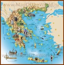 Туристическая карта Эгейского моря