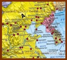 Карта Жёлтого моря на русском языке