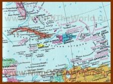 Карта островов Карибского моря